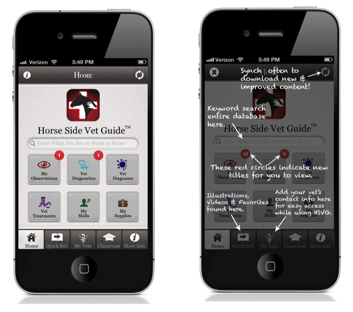 Horse Side Vet Guide is the most highly rated equine health app - get it today!