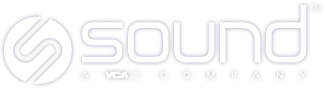 Sound vet logo white